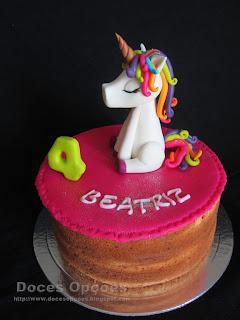 Um Unicórnio no 4º aniversário da Beatriz