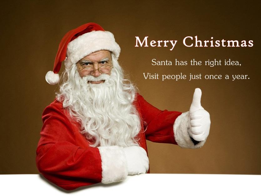 Xmas Wishes Image of Santa