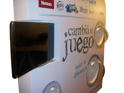 Stand publicidad, stand kimberly clark, stands, publicidad, escenografia stands