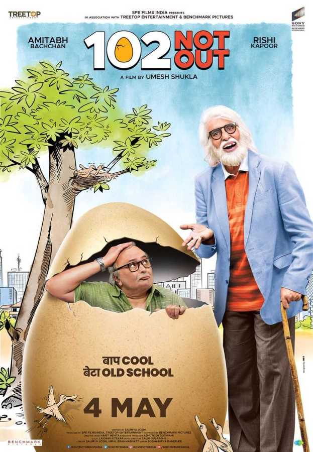 102 Not Out new upcoming movie first look, Poster of Amitabh Bachchan, Rishi Kapoor next movie download first look Poster, release date