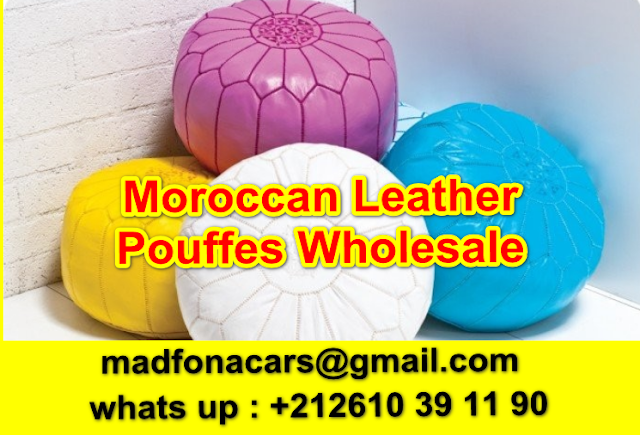 WHOLESALE MOROCCAN LEATHER POUFS/POUFFES/OTTOMANS