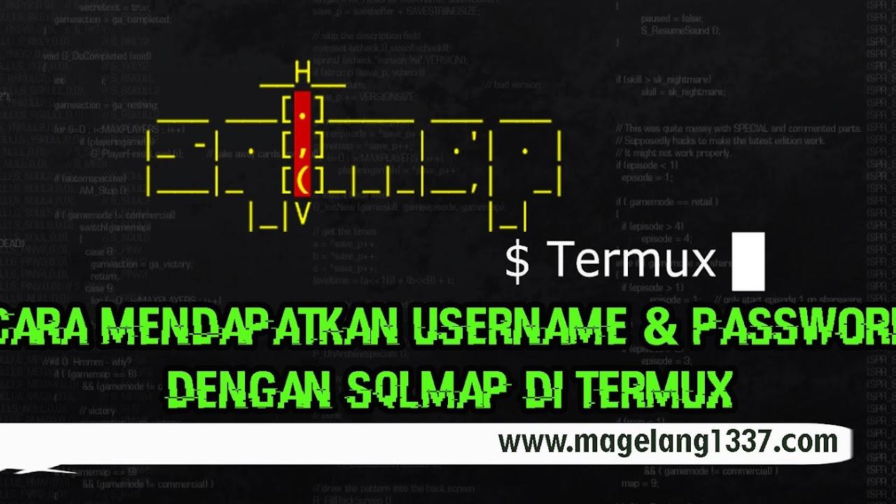 password dengan sqlmap di termux