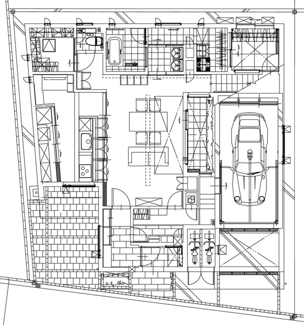 Hogares frescos arquitectura japonesa moderna casa u3 for Arquitectura moderna planos