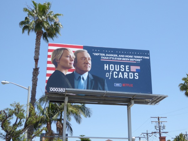 House of Cards season 4 Emmy 2016 FYC billboard