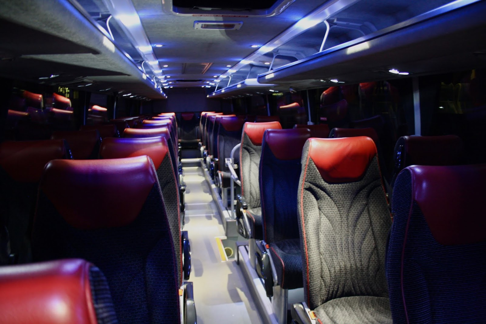 Interior of Oxford Bus Company's X90 coach