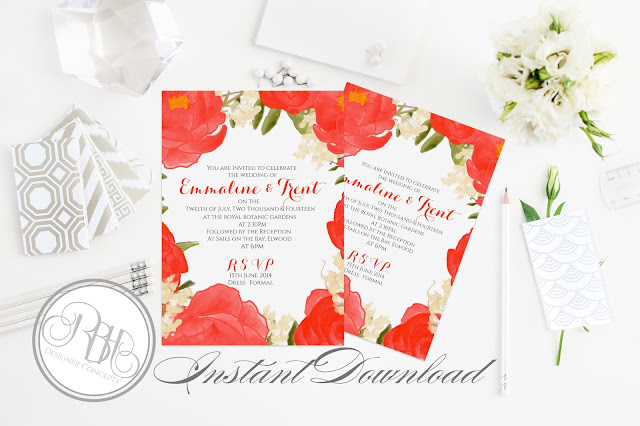 https://www.etsy.com/au/listing/263347891/red-white-watercolor-wedding-invitation