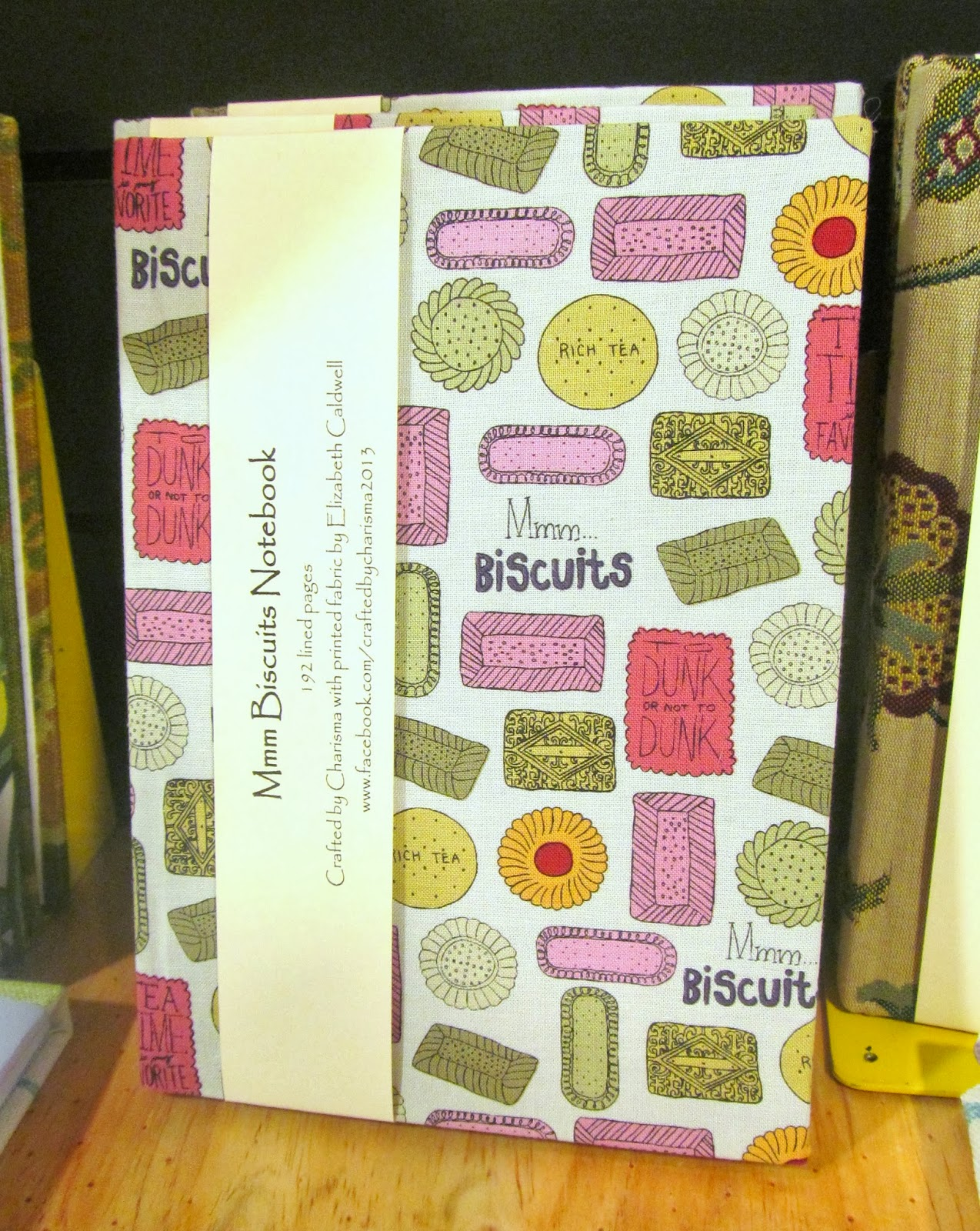 Fabric notebook by Crafted by Charisma at Bird's Yard, Sheffield