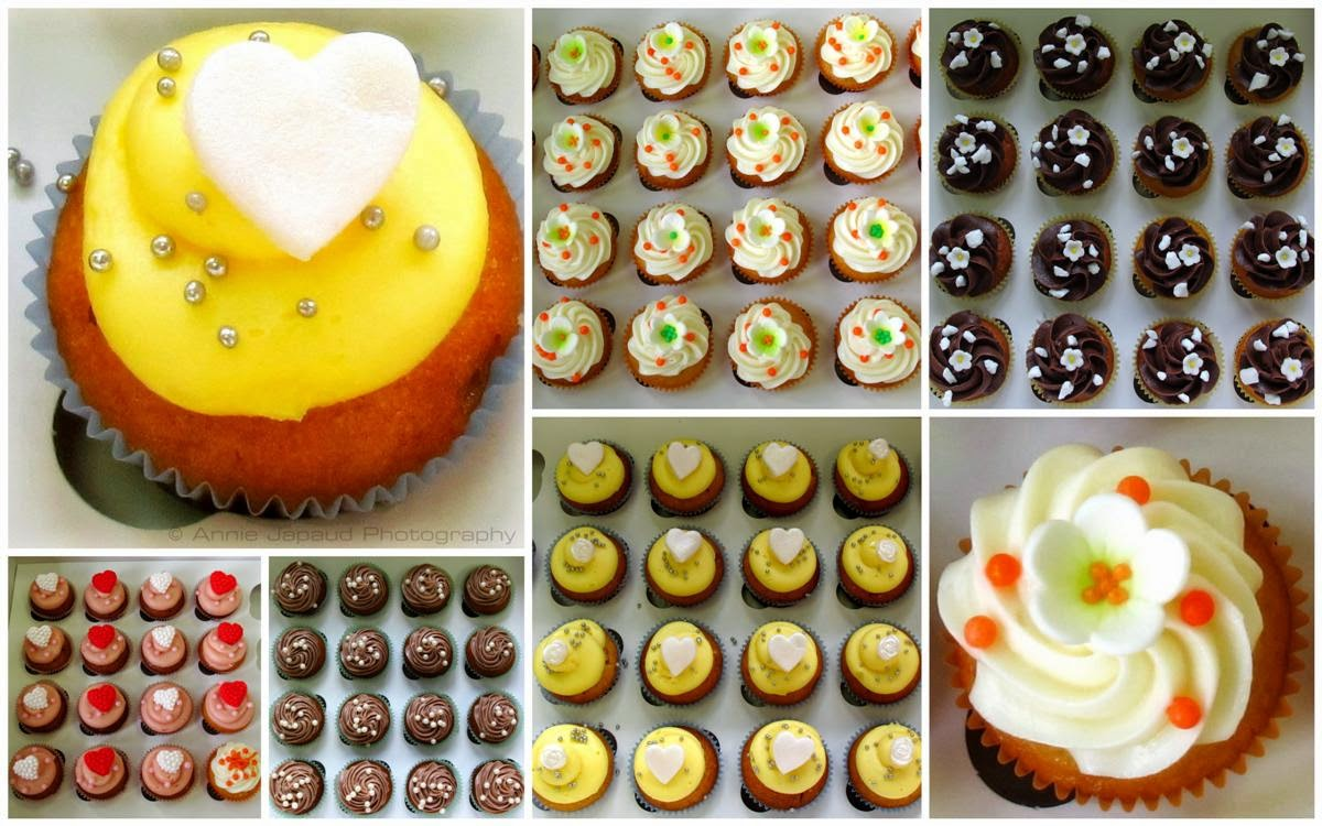 mini cupcakes collage