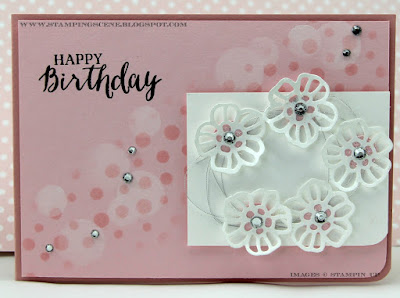 Stampin Up Rose Wonder - just right for a Ring of Roses