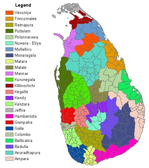 Sri Lanka Political Map.Sri Lanka Map Political Regional Maps Of Asia Regional Political City