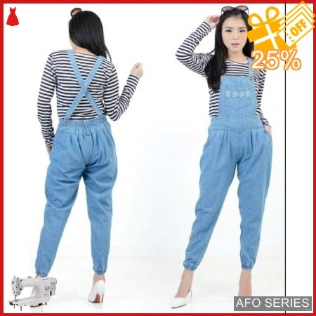 AFO493 Model Fashion Over All Jeans Poket LD Murah BMGShop