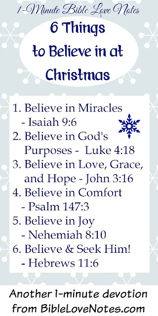 6 Things to Believe in at Christmas