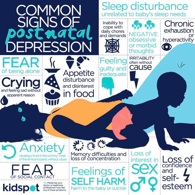 common signs of postpartum depression