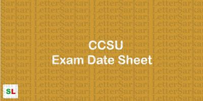 CCSU Exam Date Sheet 2019