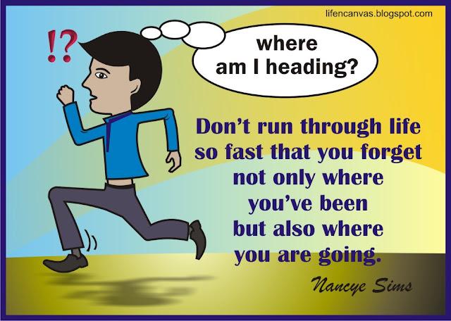 hurrying life cartoon