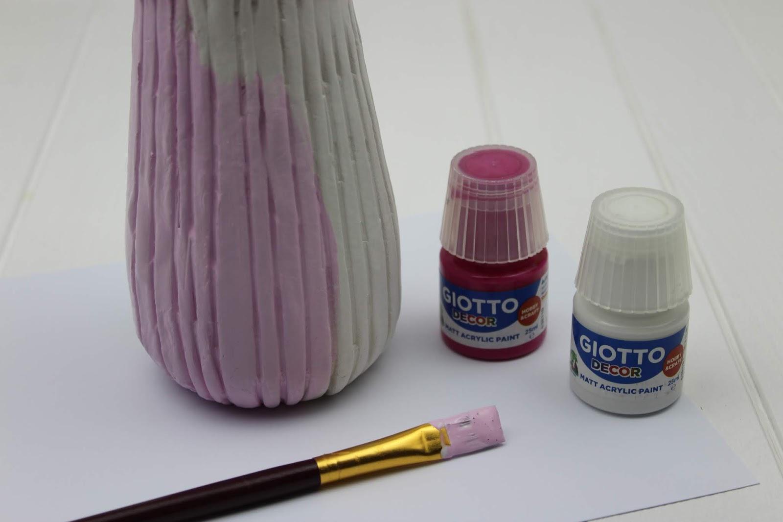 DIY: Struktur Vase und Teelichter aus Modelliermasse in wenigen Schritte selber machen