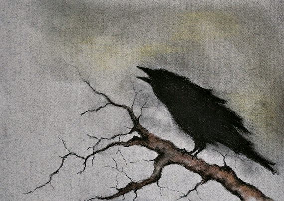 https://www.etsy.com/listing/129850292/original-crow-on-a-branch-drawing-raven?ref=market