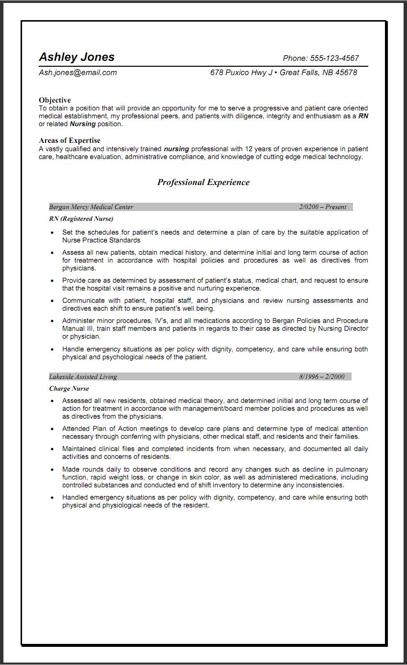 Nursing CV Sample