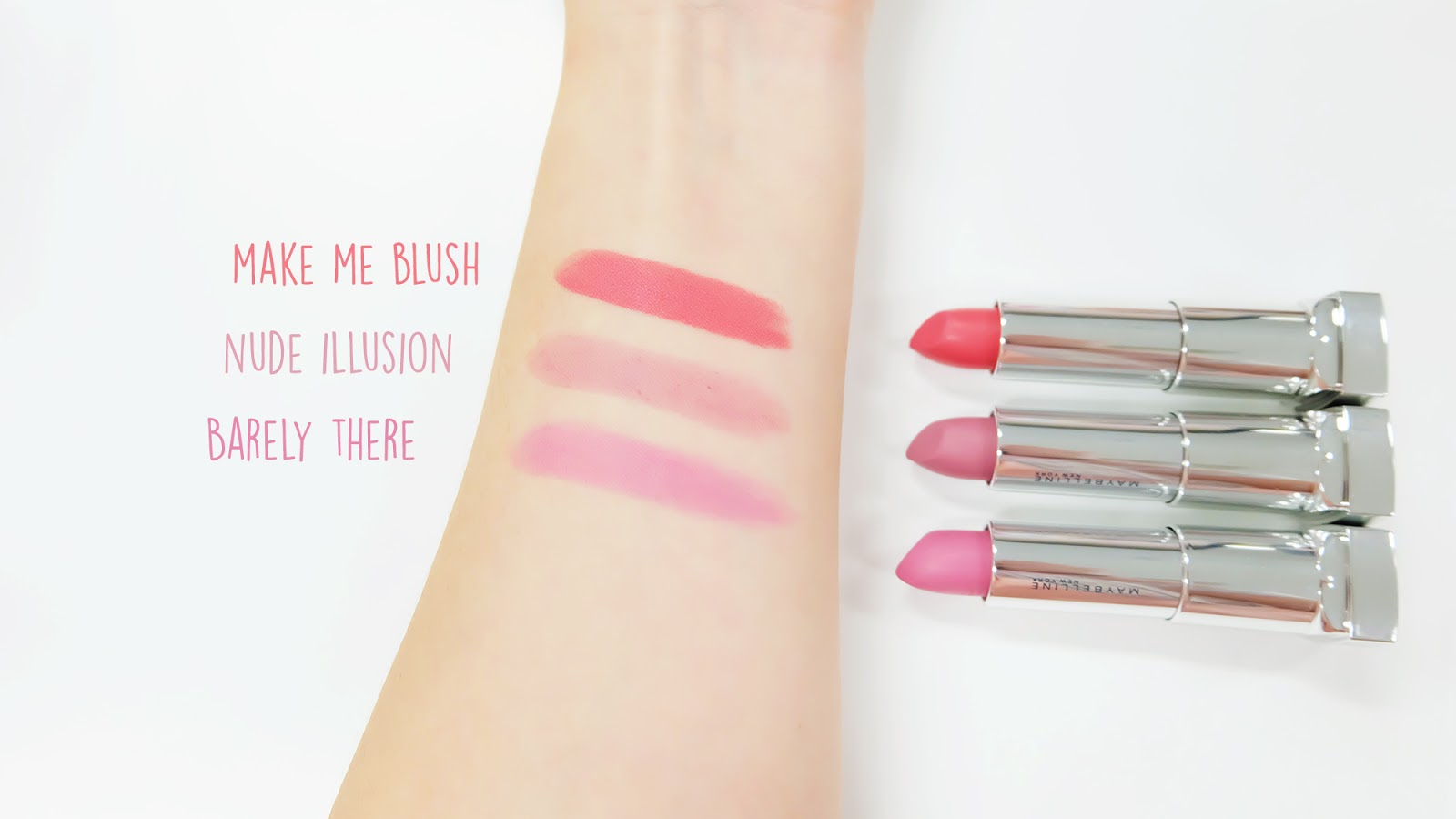 Maybelline The Powder Mattes Nude Shades Swatches | www.bigdreamerblog.com