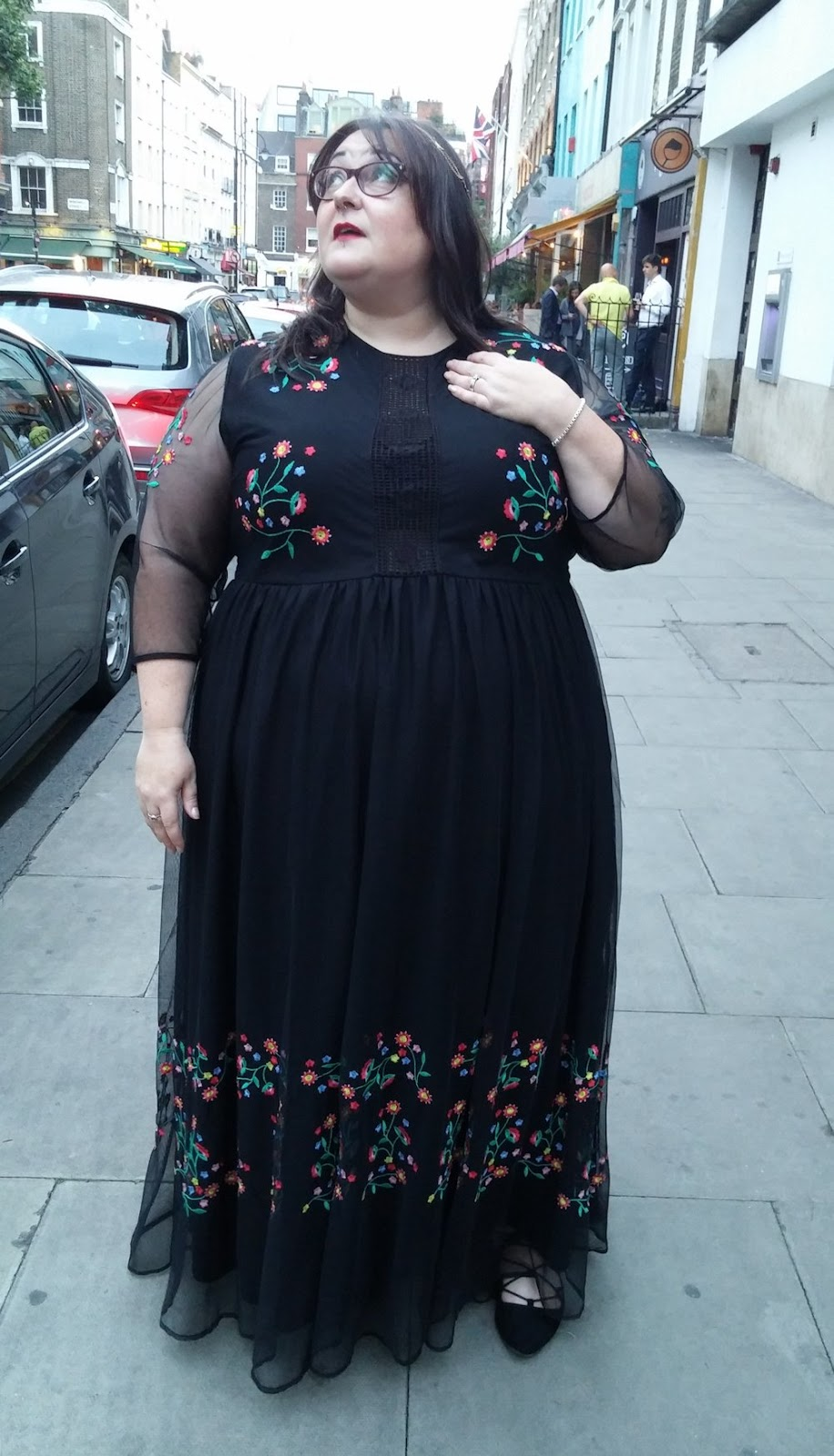 Simply Be embroidered maxi dress plus size www.xloveleahx.co.uk
