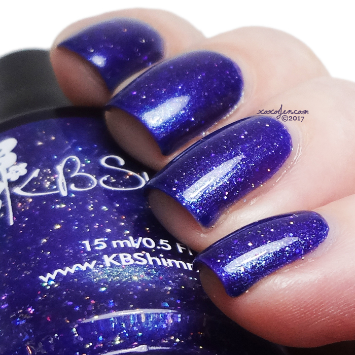 xoxoJen's swatch of KBShimmer: A Roaring Borealis