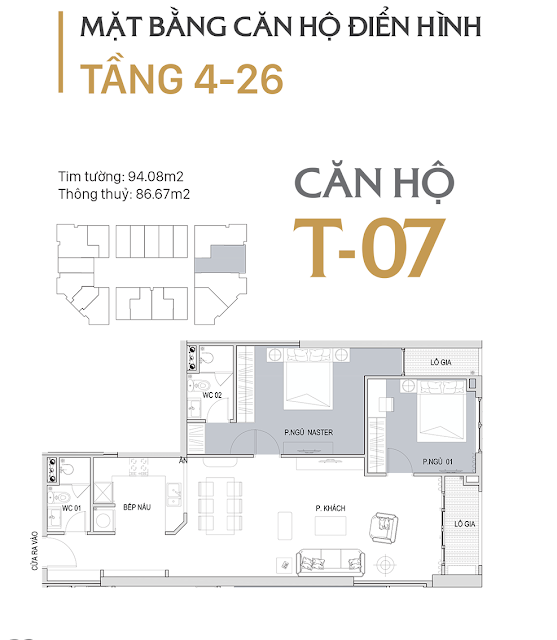 Mặt bằng căn hộ T07 dự án D'. El Dorado Premium Phú Thượng Tân Hoàng Minh