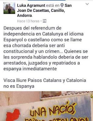Lo espacat es una mescla de español o castellá y catalá