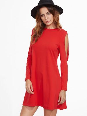 vestidos rojos de noche cortos