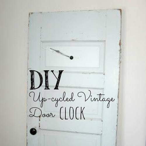 DIY Up-cycled Vintage Door Clock