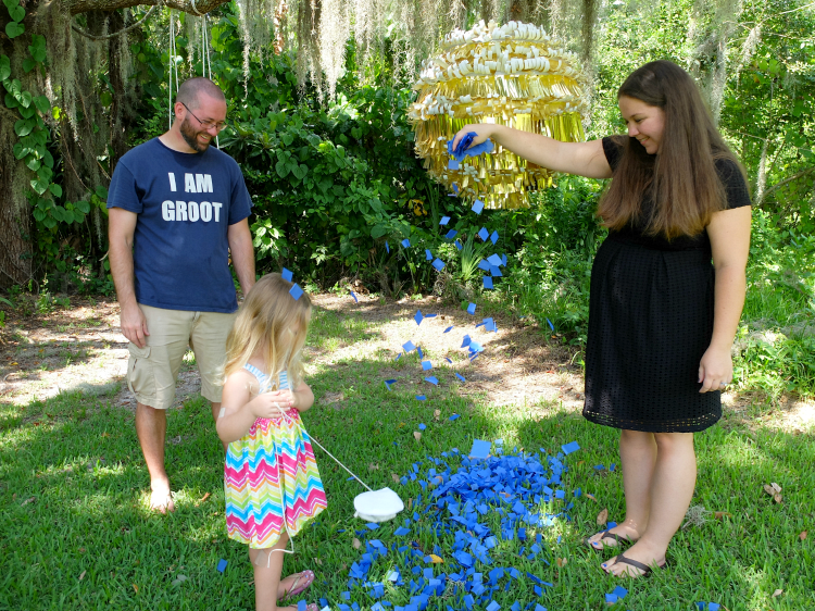 gender reveal pinata
