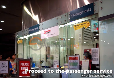 Mua Ez-link card tại Passenger Service