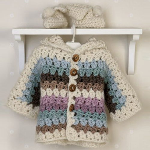 Jacket, Booties and Blanket - Free Pattern