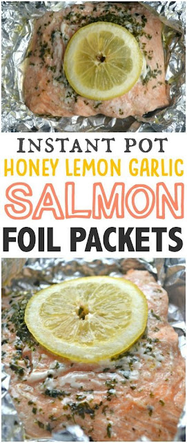 Instant Pot Honey Lemon Garlic Salmon Foil Packets