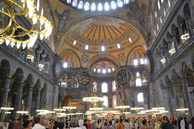 interior basilica de Santa Sofia - Istambul
