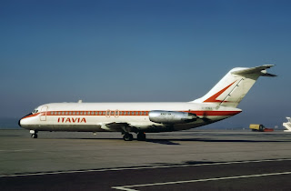 The Itavia Airlines DC9 that crashed off Ustica