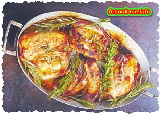 Tendrons de veau marinés et grillés au romarin