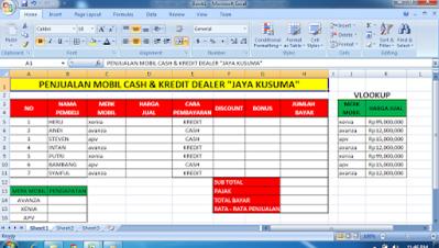 Surya Tutorialku Membuat Aplikasi Pada Ms Excel