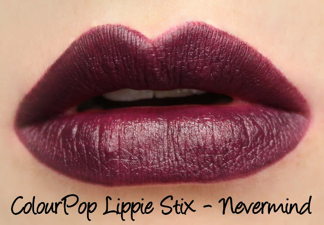 ColourPop Lippie Stix - Nevermind Swatches & Review
