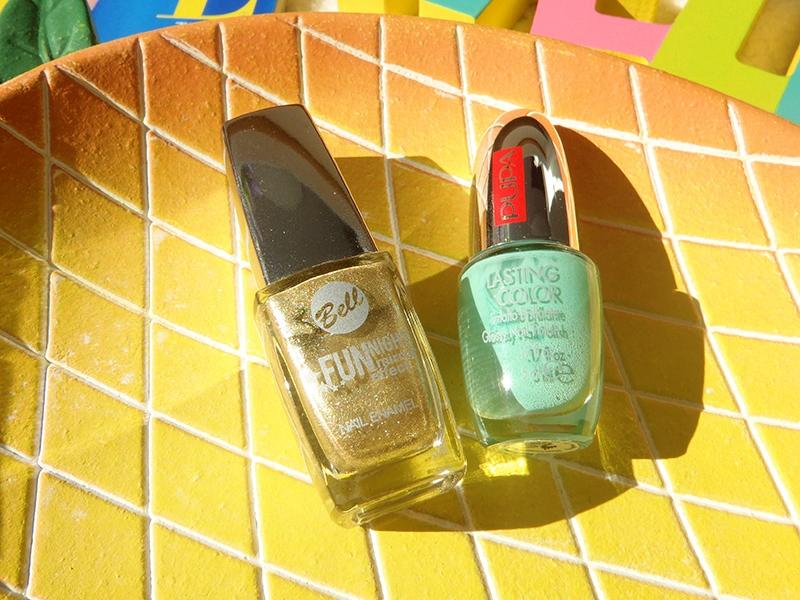 Bell lakier do paznokci, złoty lakier do paznokci, pupa lasting color