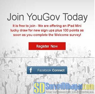Cara daftar online survey YouGov | SurveiDibayar.com