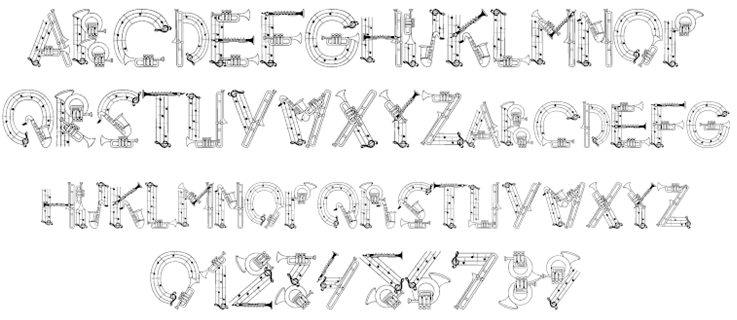 Music Fonts!   Sing, Say, Dance, and Play