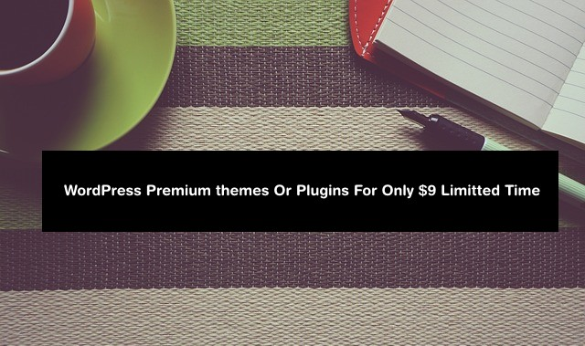 best offer to but WordPress Themes for 9$