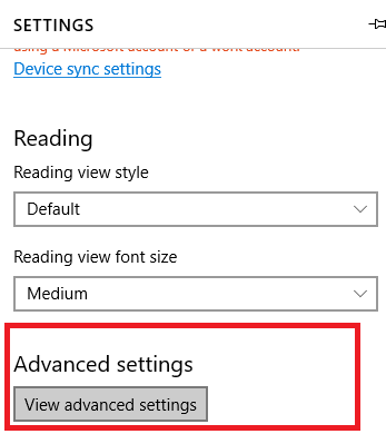 How to enable cookies on microsoft edge techtza under advanced settings scroll down you will find cookies ccuart Image collections
