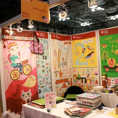 Lisa Rogers' Surtex booth from 2010