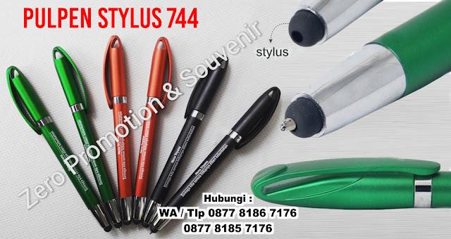 Pulpen Stylus Metalik 744, pena promosi tipe stylus 744, BALLPOINT STYLUS 744