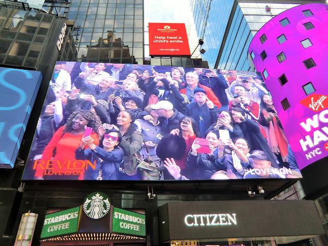 écran revlon Times Square Manhattan New-York City