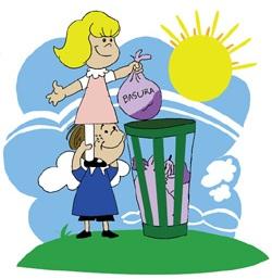Ilustración del Día Mundial del Medio Ambiente para niños