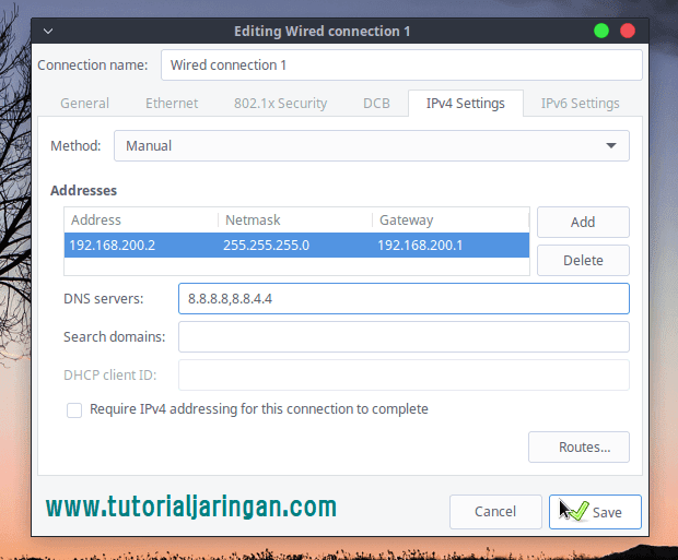 Cara Setting IP Address di Linux via GUI