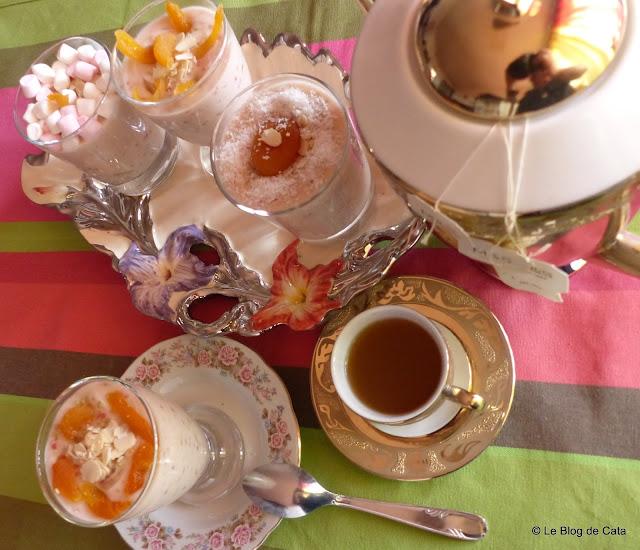 Perle de tapioca cu ceai verde si crema de cocos