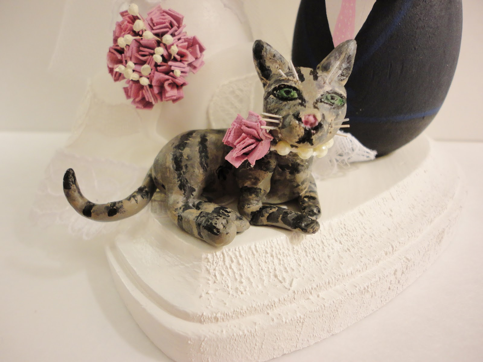Dsmeebee Bride Groom And Cat Wedding Cake Topper